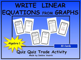 write linear equations from graphs quiz quiz trade activity by debbiesalgebraactivities teaching resources tes