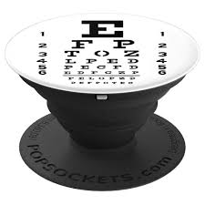 Eye Charts Used By Doctors Eye Chart Snellen Design For Eye Doctors Optometrists Popsockets Grip And Stand For Phones And Tablets