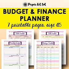 Monthly Budget Planning A5 Budget Printables Monthly Budget Planner Financial