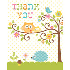 Baby Shower Thank You NotesOwl Baby Shower Thank You Cards