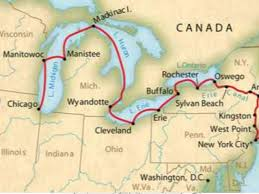 Image result for 1825 the Erie Canal map