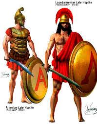 Армия спартанцев Русская историческая библиотека Афинский и спартанский гоплиты