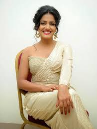 Vishakha Singh Looks Smoking Hot In White Saree At Telugu Film.