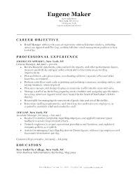 Resume Examples Of Objectives Objective For Sales Resume Sales Objective On Resume Retail Sales