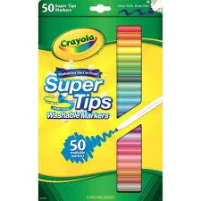 Crayola Supertips 50 Color Chart Crayola Llc Crayola Super Tips 50 Ct Washable Markers Assorted 50 Set