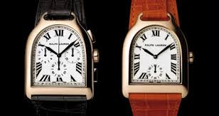 the fusion of the titans europa star magazine ralph lauren 18 carat rose gold chronograph from the stirrup collection medium sized watch in the stirrup collection a red alligator strap