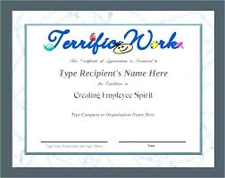 Employee Appreciation Certificate Templates Certificate Of ...