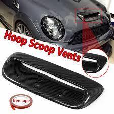 Ön Kaput Havalandırma Mini Cooper S R56 2007 2014 VTX Stil Gerçek Karbon  Fiber Akışı Emme Hood Scoop vent Bonnet Dekoratif Kapak|Hoods
