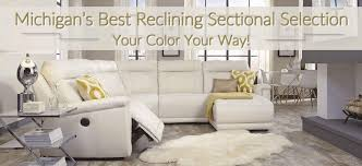 leather furniture on reclining chaise leather sectional
