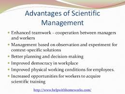 advantages and disadvantages of scientific management 5 advantages of scientific management