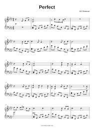 ed sheeran sheet music ed sheeran perfect sheet music for piano musescore