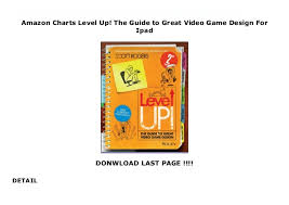 Amazon Charts Level Up The Guide To Great Video Game Design