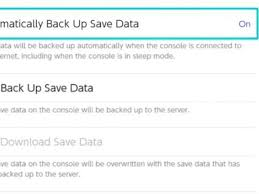 Nintendo Switch Online Cloud Save How To Backup Data