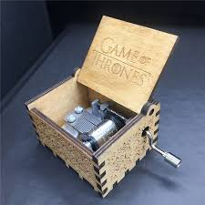 Engraved Wooden Music Box Game Of Thrones free shipping Game of Thrones Star Wars Theme Engraved Wooden 14