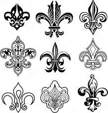королевская лилия тату геральдическая лилия векторное изображение