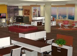 a rendering submitted to the 3rd annual cet designer awards program by kaylie tucker a bank and office interiors