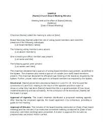 Church Meeting Minutes Templates Free Premium Board Of