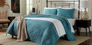 Cannon Embroidered Quilt - Teal &  Adamdwight.com