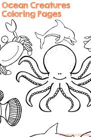 Ocean Creatures Coloring Pages Simple Fun For Kids