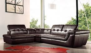 j m 397 italian leather sectional sofa with ottoman in chocolate with left facing chaise