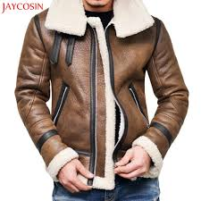 2019 jaycosin m 4xl men coats autumn winter highneck warm fur liner lapel leather zipper outwear top coat black brown plus size z1105 from zhaolinshe