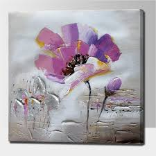 flower painting together with palette knife acrylic abstract flower wall art decorative flower oil painting on