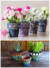 plastic flower pot craft ideas luxury 40 impressive diy mosaic projects of plastic flower pot craft