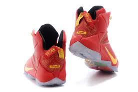 lebron shoes 12 red. cheap lebron 12 university red yellow shoes