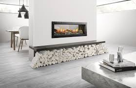mezzo single sided and see through gas fireplace