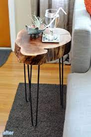 tree stump furniture side table wood