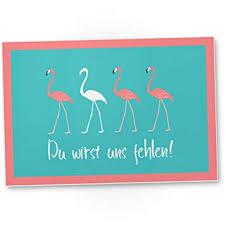 Dankedir Du Wirst Uns Fehlen Flamingo Kunststoff Schild