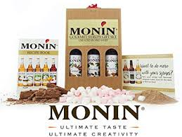 monin premium coffee syrups luxury gift set includes caramel hazelnut gingerbread recipe