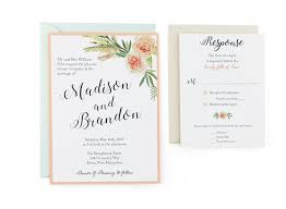 Wedding Invitation Templates With Photo Flower Bouquet