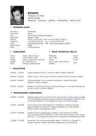 Brilliant Ideas Of Resume Cv Cover Letter Makeup Artist 3d