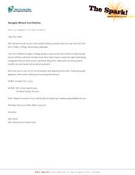 Sample Invitation Letter For Company Event Sample Invitation For