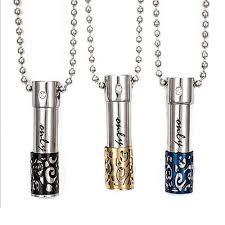 only love blue accent memorial necklace