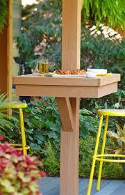 post mounted patio table diy patio