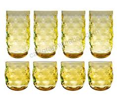 qg clear colorful acrylic plastic 14 23 oz cup drinking glass tumbler set of