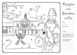 Kleurplaat Downloaden Voor Sinterklaas Buitenplaats Ockenburgh