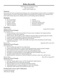 Fake Resume Generator Restaurant Manager Sample Builder