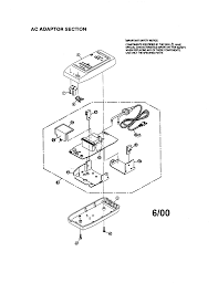 Vhs c adapter diagram wiring or schematic ac adaptor and parts list for panasonic camcorder model