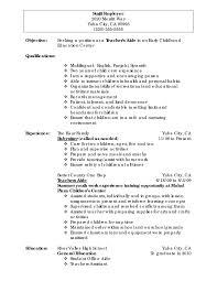 Resume Template Breathtaking Daycare Teacher Resume Cover Letter
