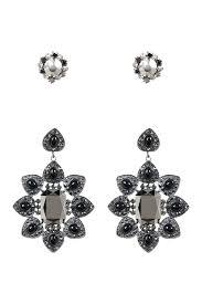 extra large chandelier earrings free press extra large chandelier earrings set of 2 image of free