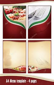 Background Italian Restaurant Menu Backgrounds A4 4 Pages