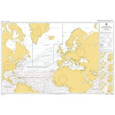 Admiralty Chart 5124 3 Routeing Chart North Atlantic Ocean March