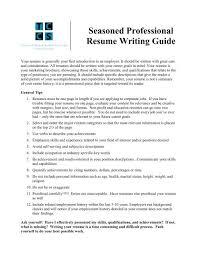 Seasoned Professional Resume Writing Guide Teachers