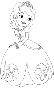Princess Sofia Coloring Pages With First