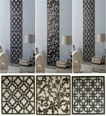 4pc contemporary wood effect hanging wall art cut out