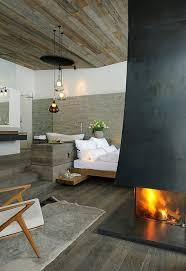 corner fireplace near the bedroom via designs for master bedrooms