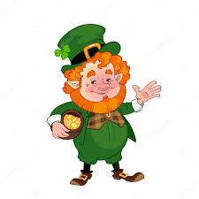 cheerful leprechaun with a pot of gold — stock vector © yavi    cheerful leprechaun   a pot of gold — stock vector